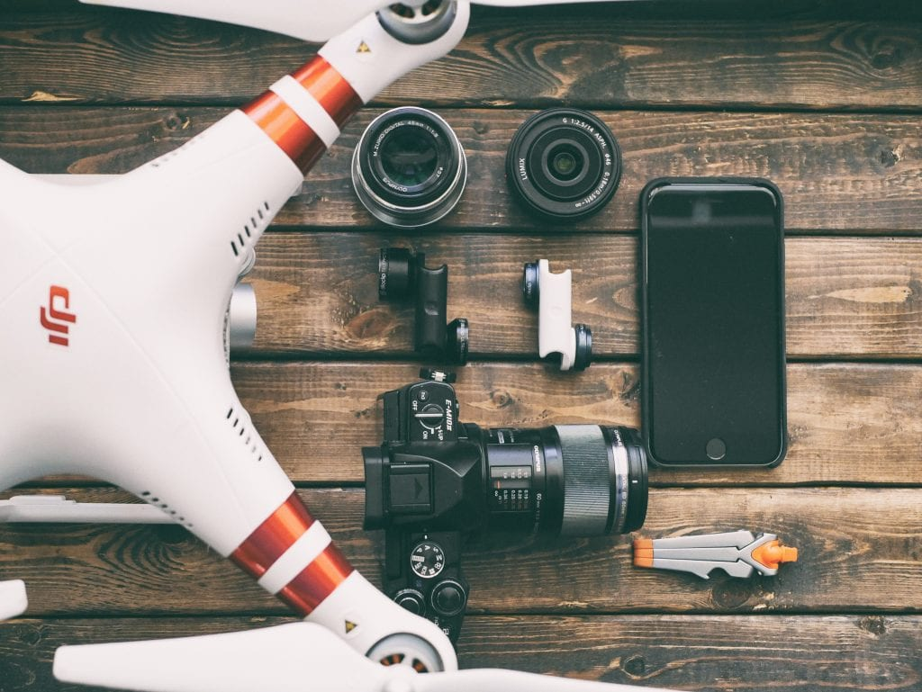 Drone, camera, iphone for rent